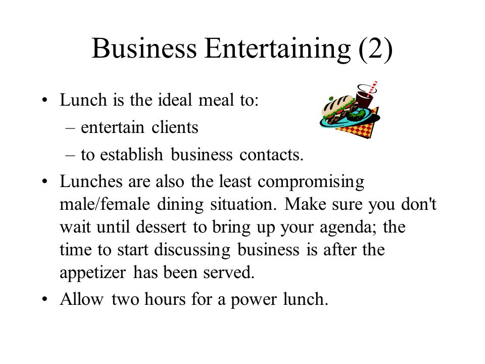 Business Entertaining (2)
