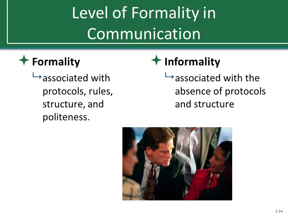 Level of Formality in Communication