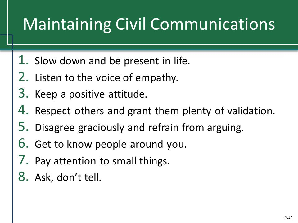 Maintaining Civil Communications