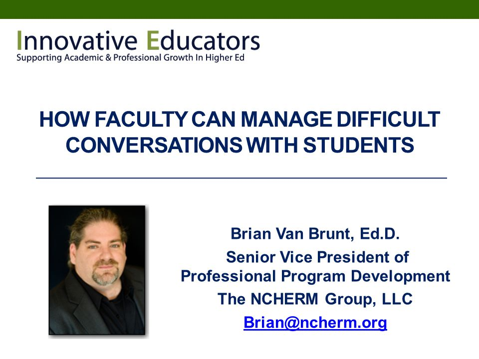 How faculty can manage difficult conversations with students