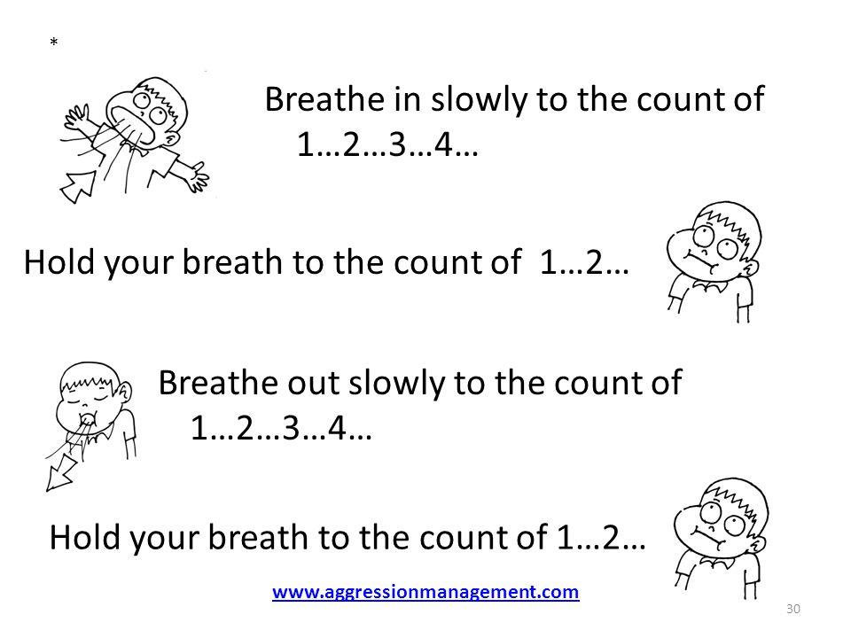 Breathe in slowly to the count of 1…2…3…4…