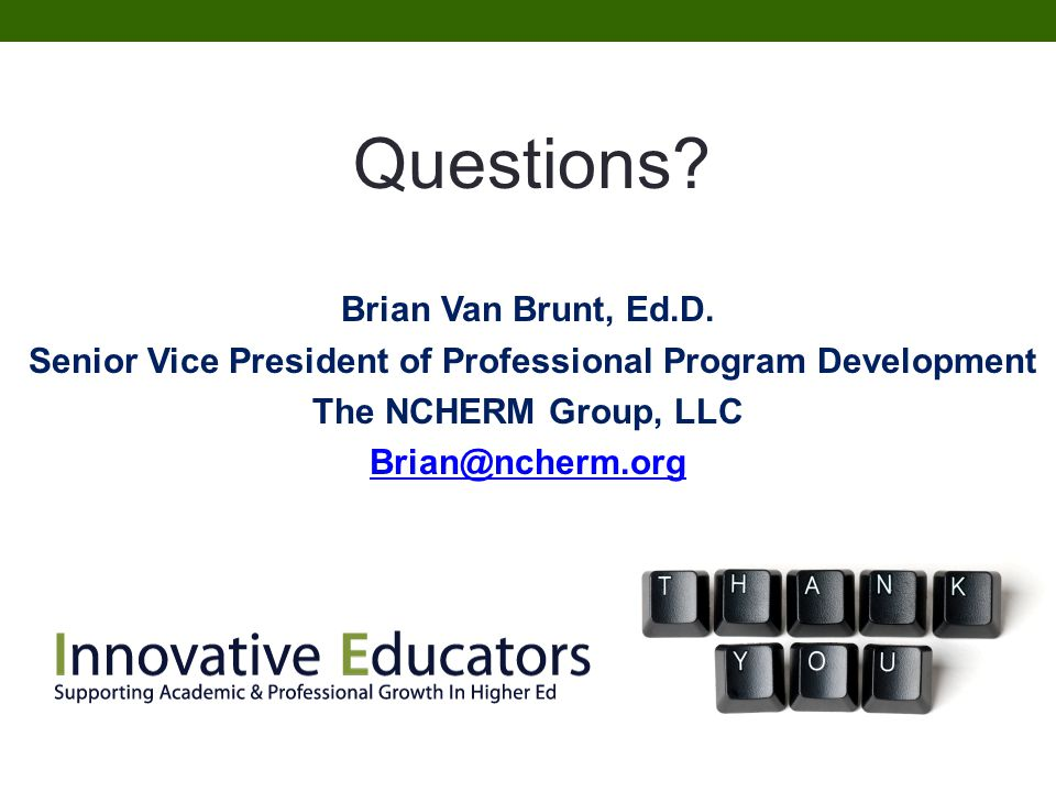 Senior Vice President of Professional Program Development