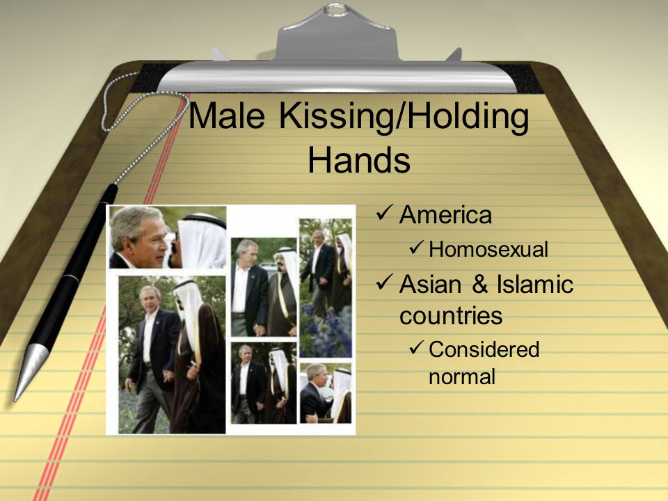 Male Kissing/Holding Hands