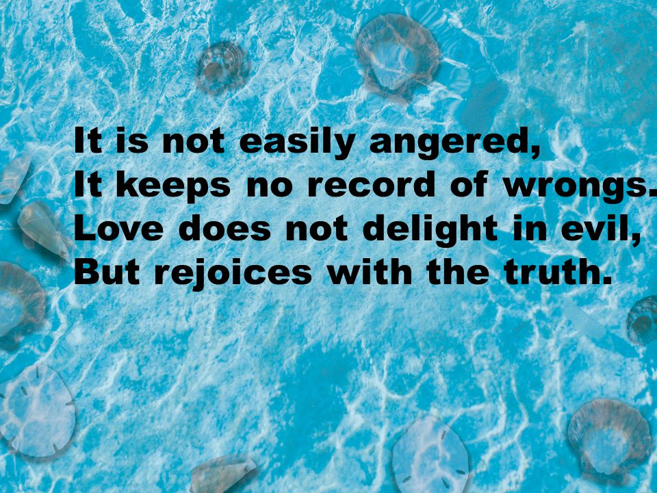 It is not easily angered,