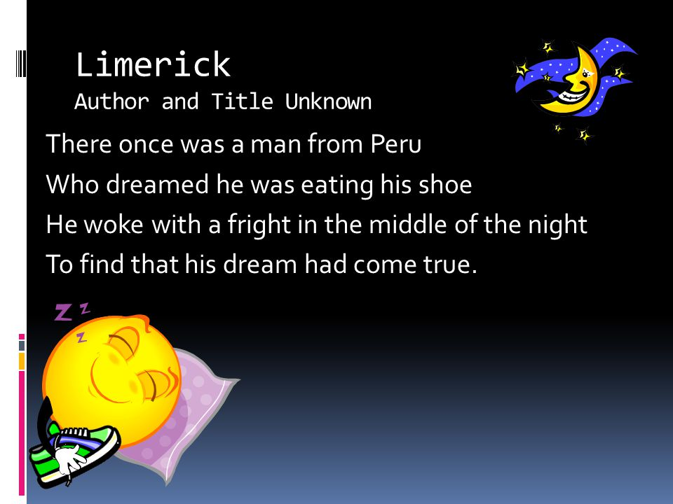 Limerick Author and Title Unknown