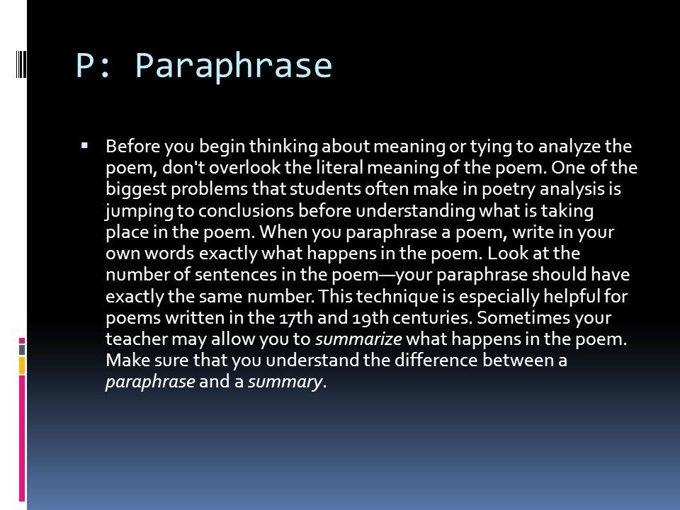 P: Paraphrase
