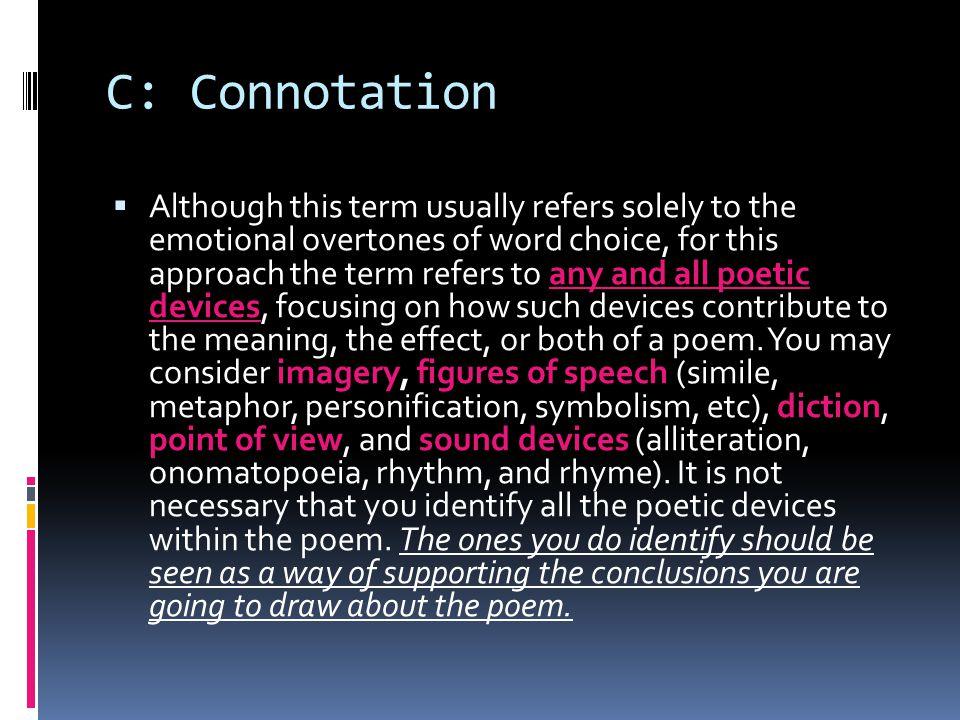 C: Connotation