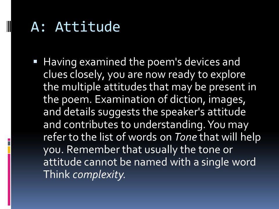 A: Attitude