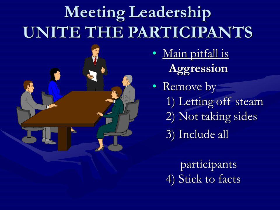 Meeting Leadership UNITE THE PARTICIPANTS