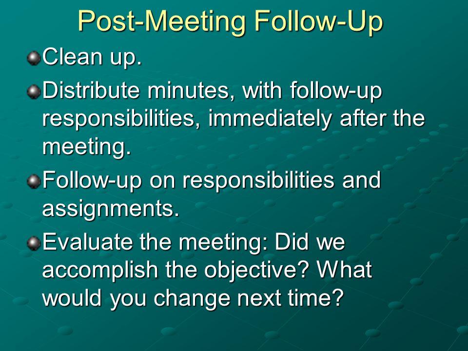 Post-Meeting Follow-Up