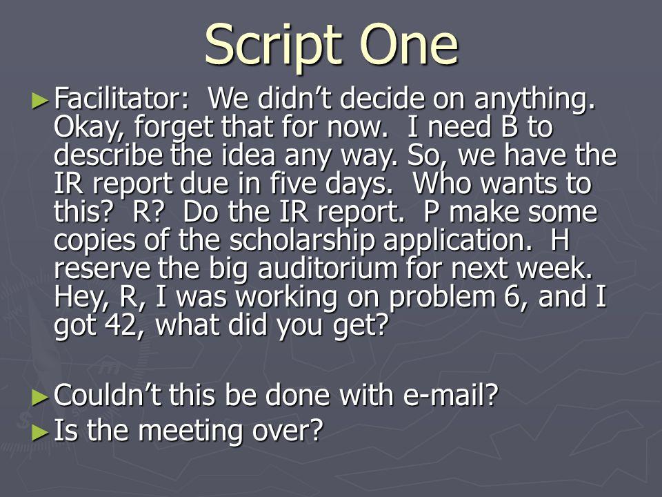 Script One