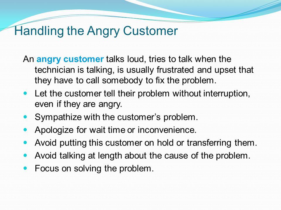 Handling the Angry Customer