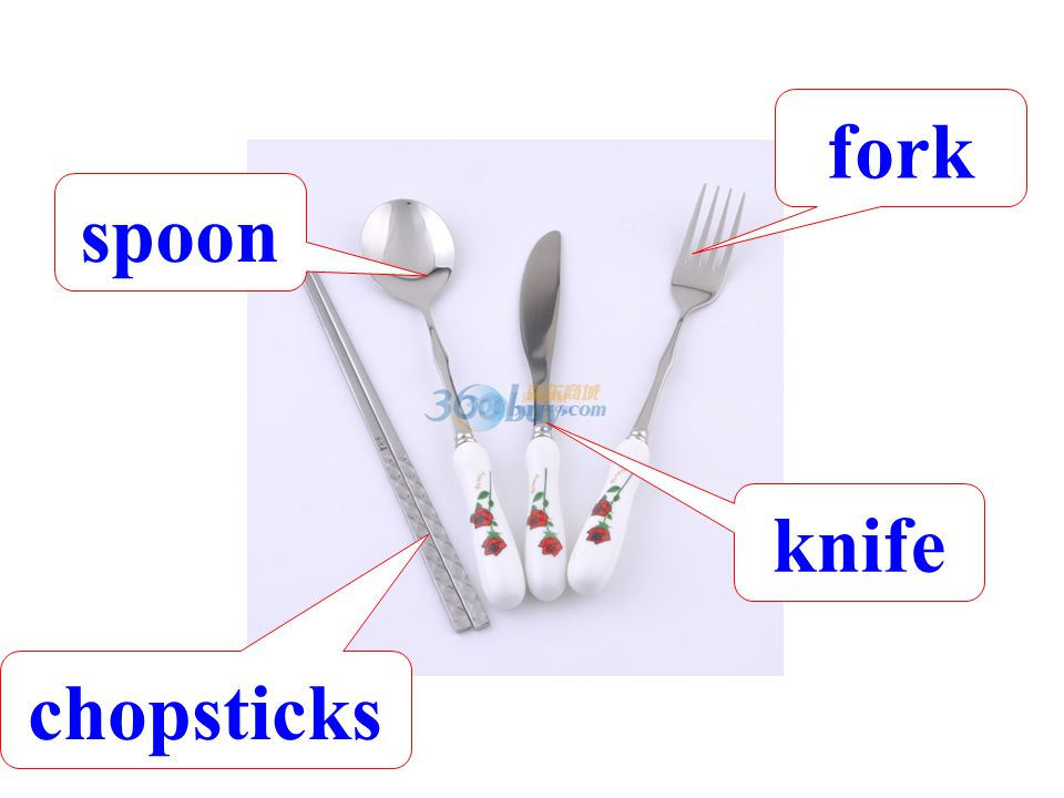 fork spoon knife chopsticks