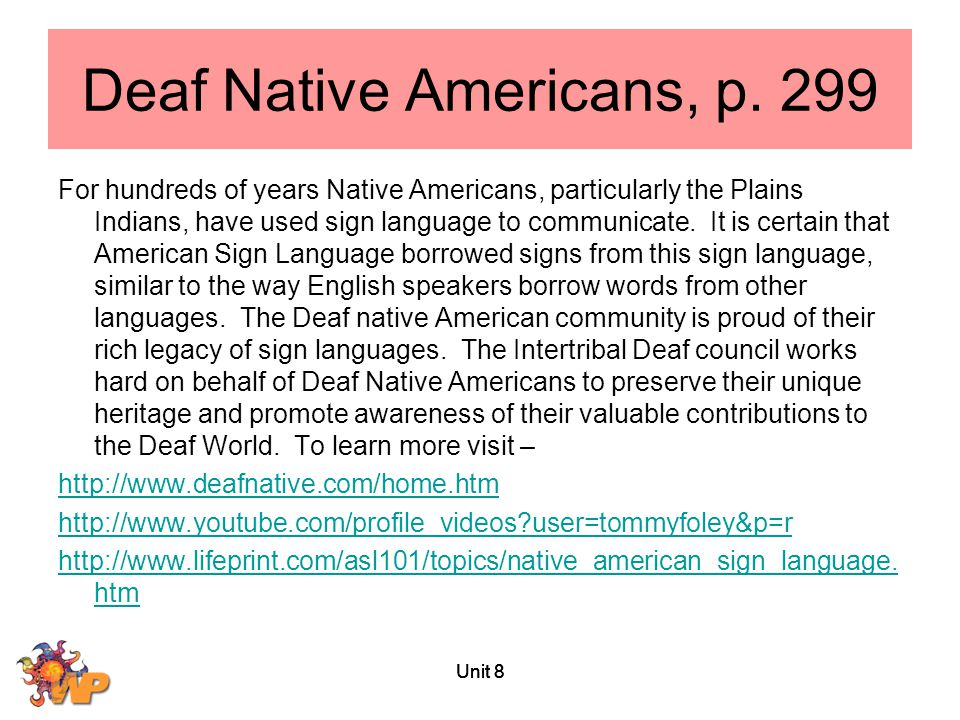 Deaf Native Americans, p. 299