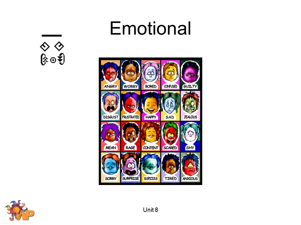 Emotional Unit 8 Unit 8