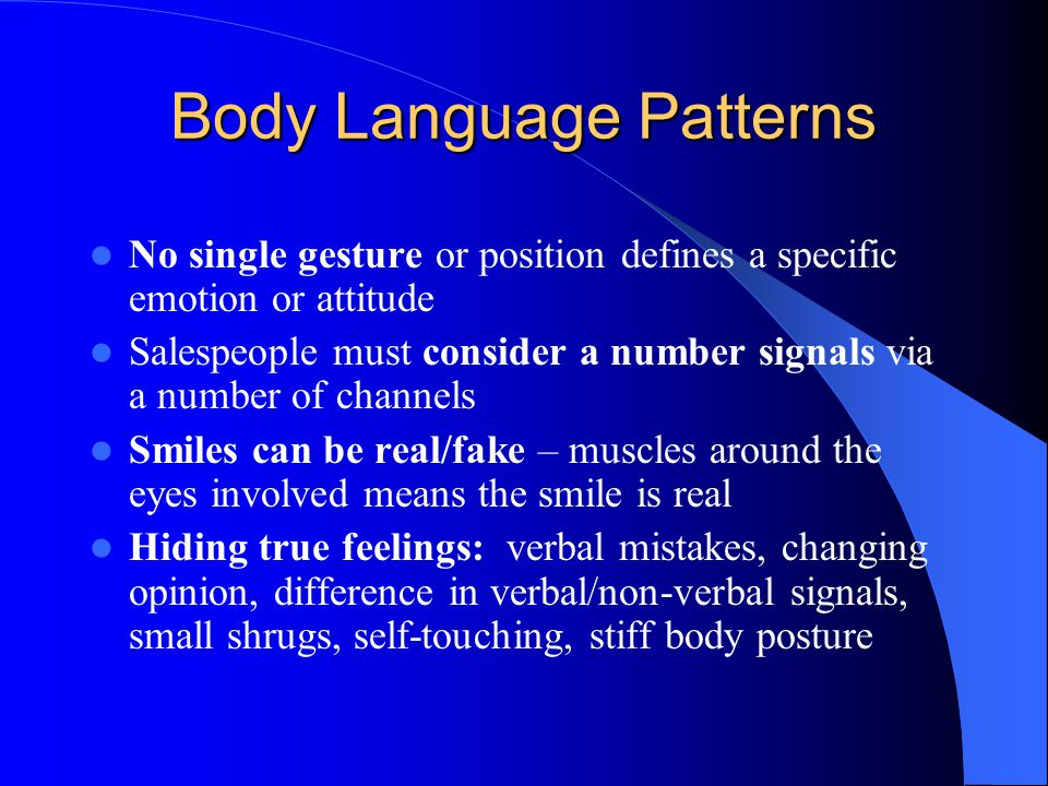 Body Language Patterns