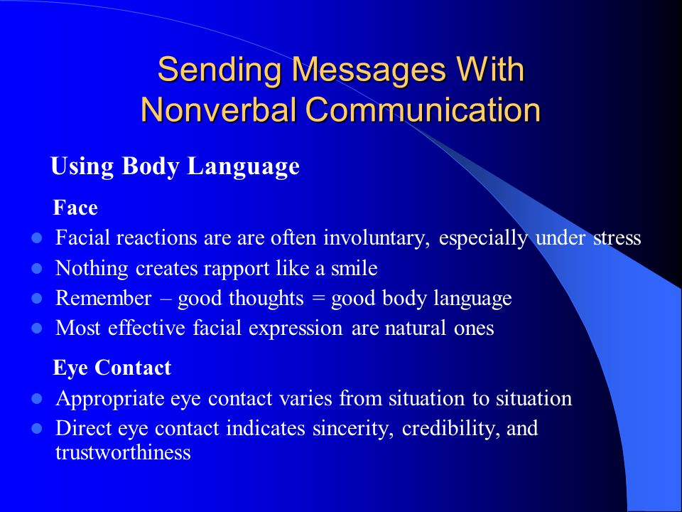 Sending Messages With Nonverbal Communication