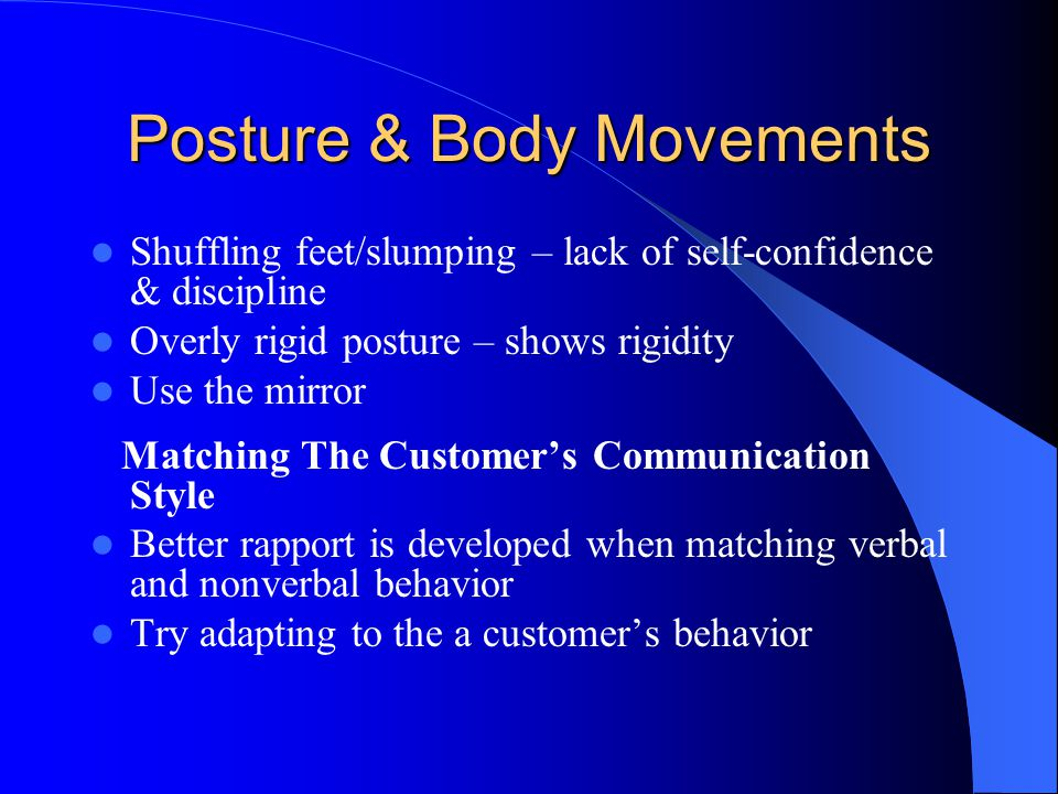 Posture & Body Movements