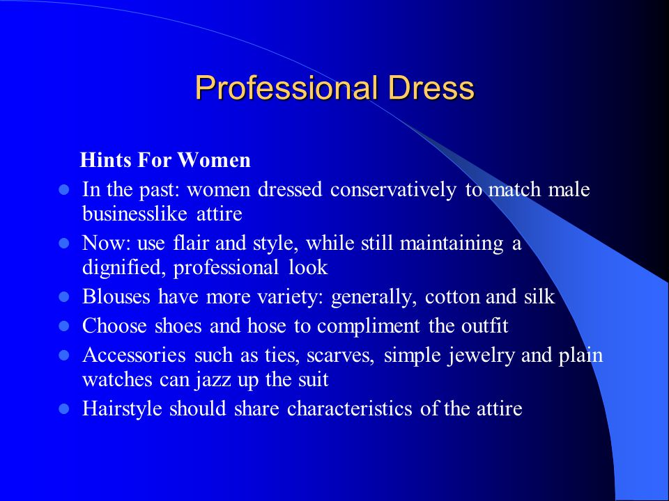 Professional Dress Hints For Women