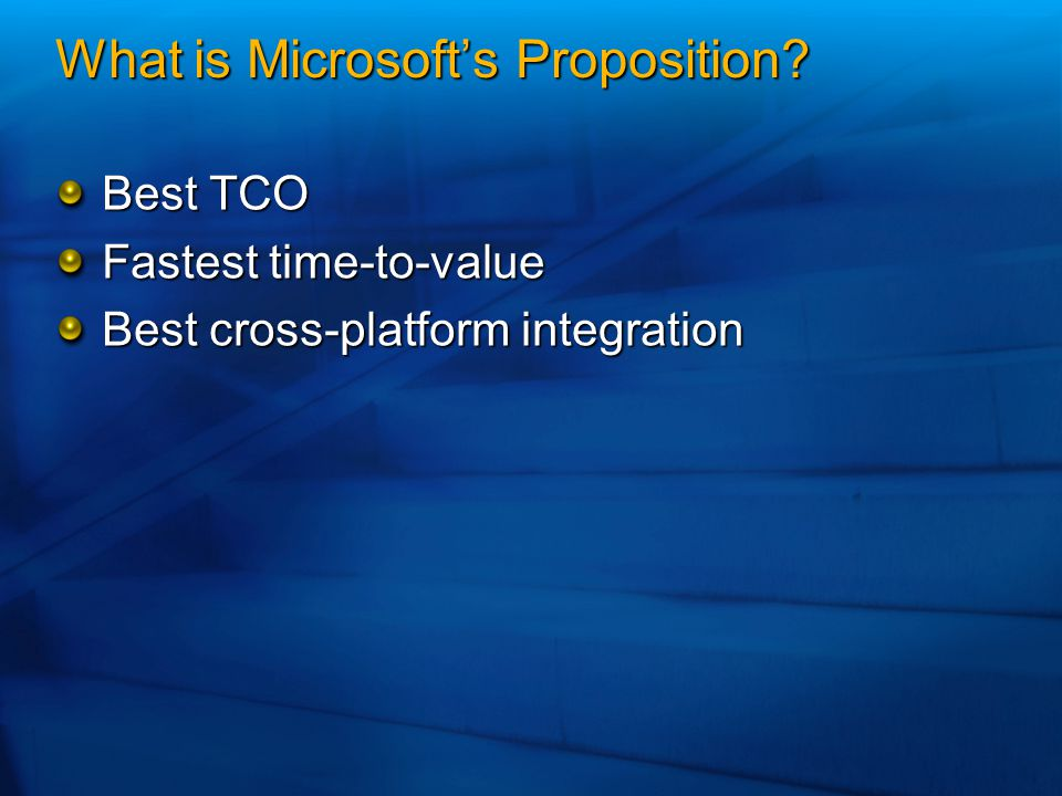 What is Microsoft's Proposition