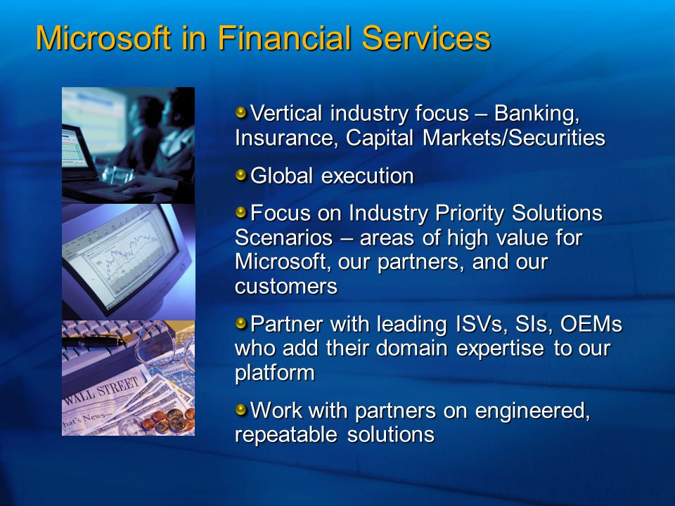 Microsoft in Financial Services