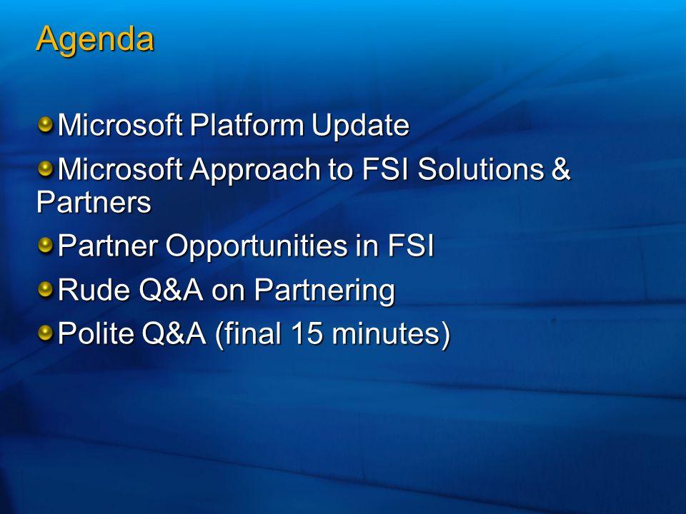Agenda Microsoft Platform Update