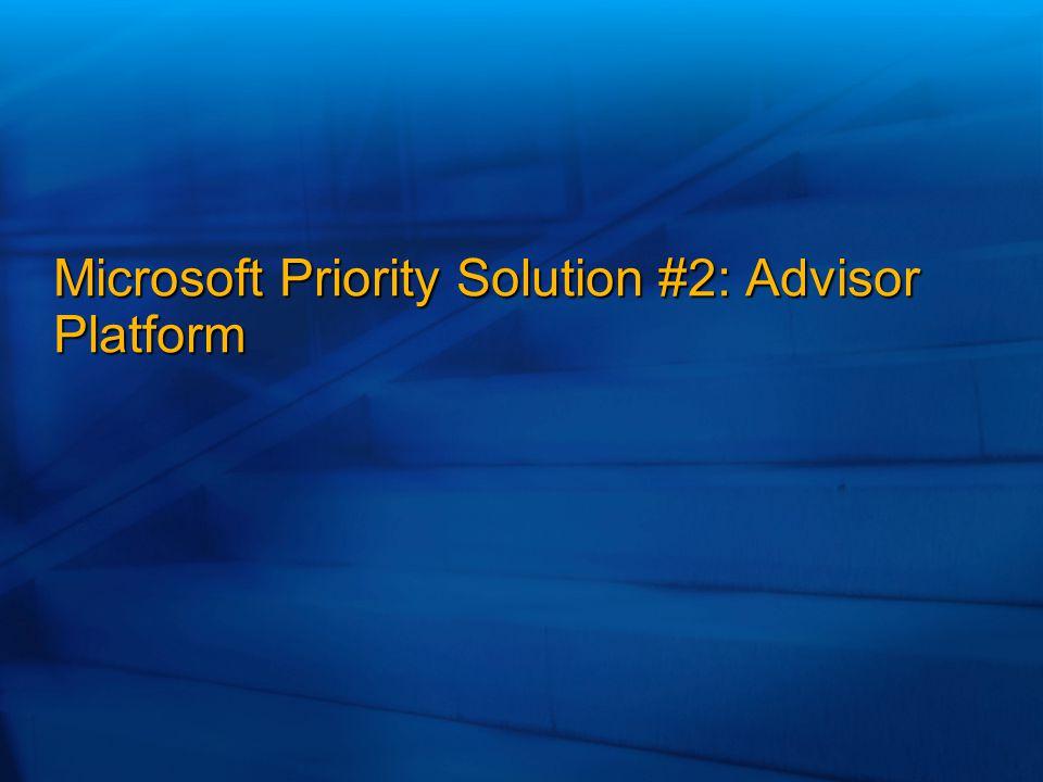 Microsoft Priority Solution #2: Advisor Platform