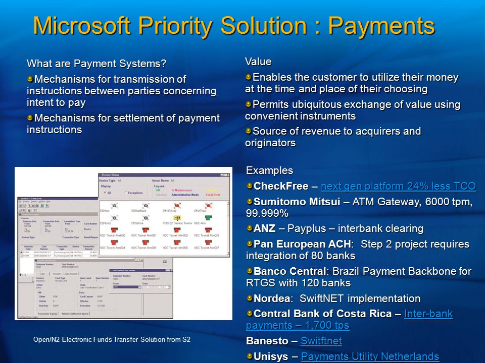 Microsoft Priority Solution : Payments