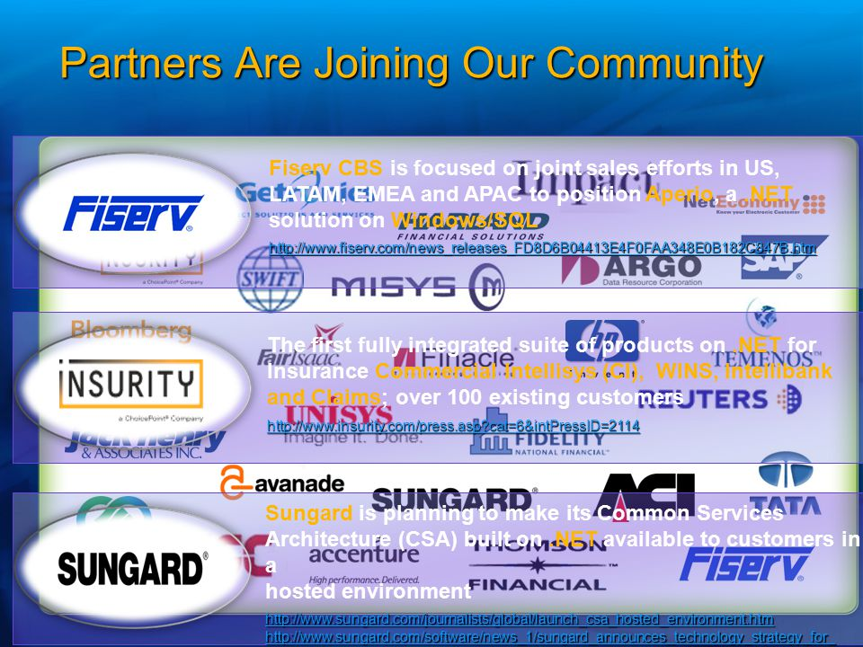 Partners Are Joining Our Community