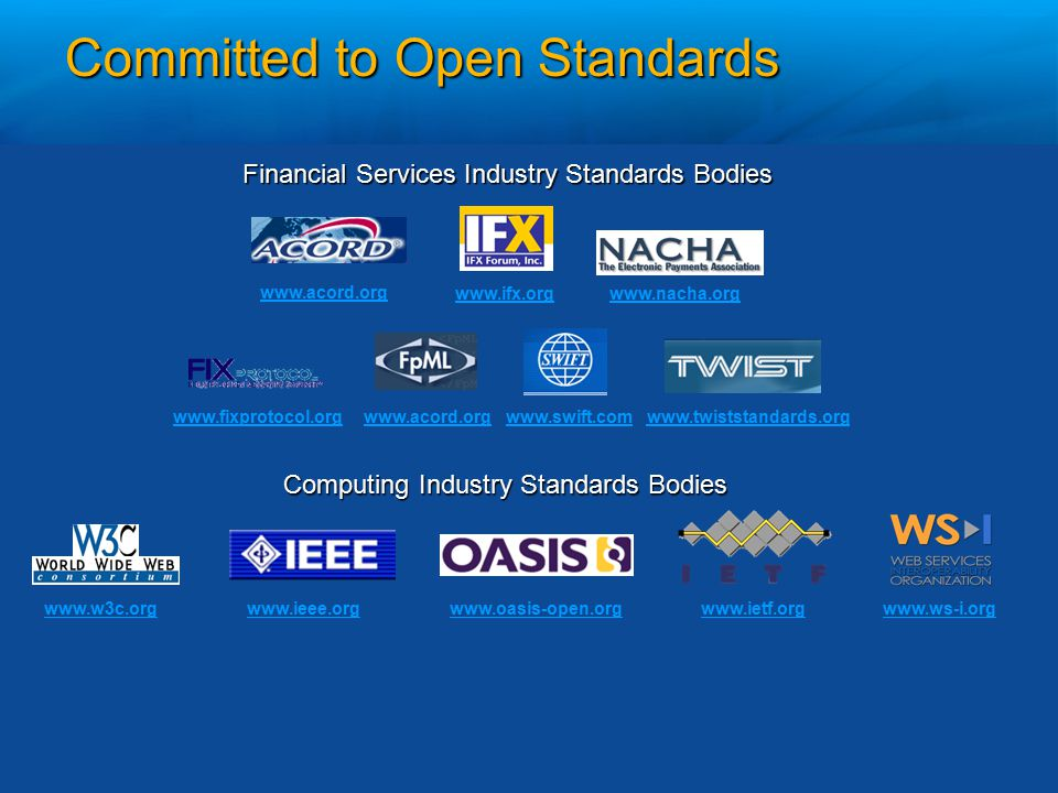 Committed to Open Standards