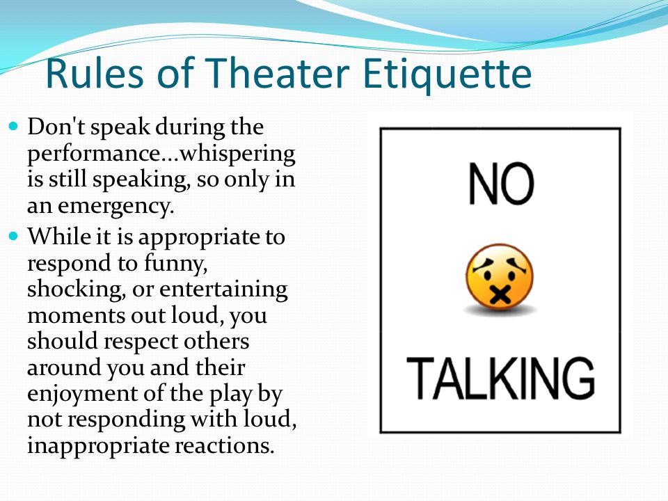 Rules of Theater Etiquette