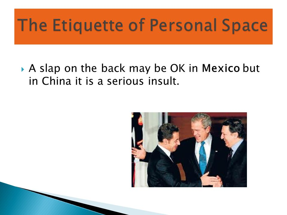 The Etiquette of Personal Space
