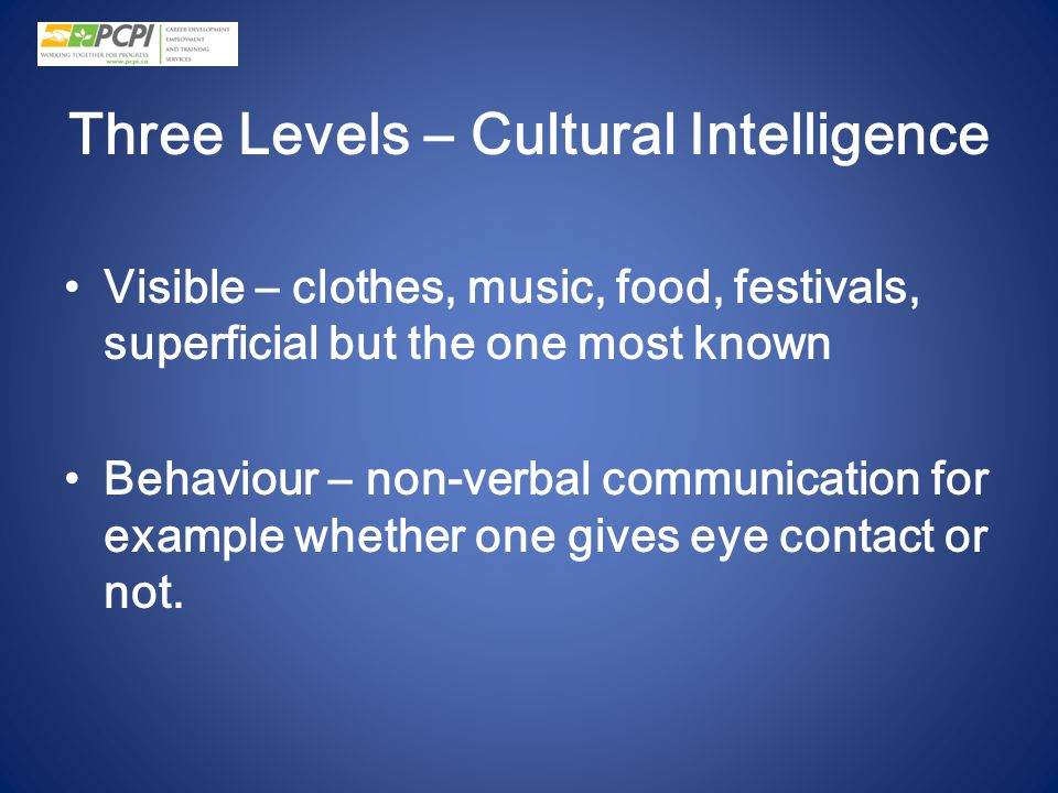 Three Levels – Cultural Intelligence