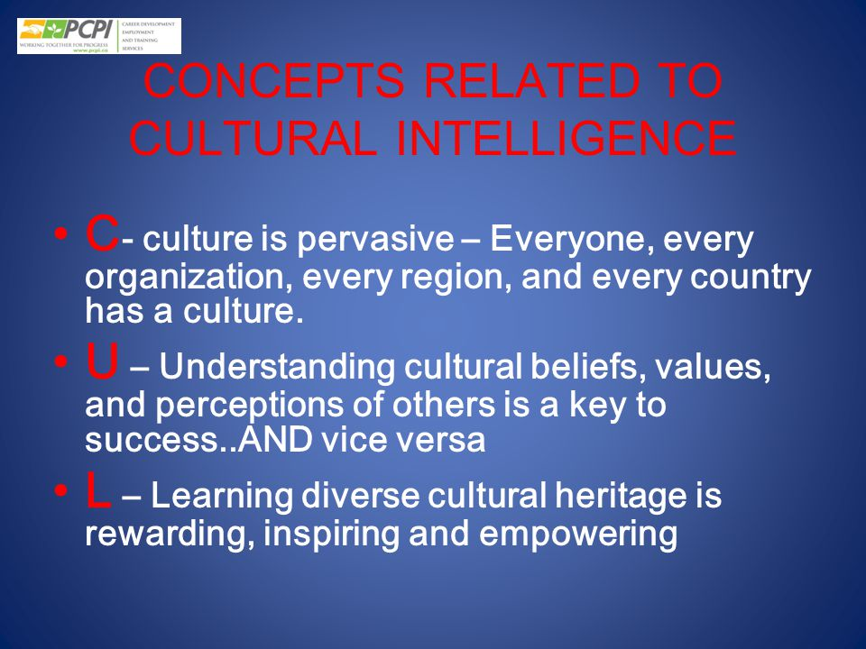 CONCEPTS RELATED TO CULTURAL INTELLIGENCE