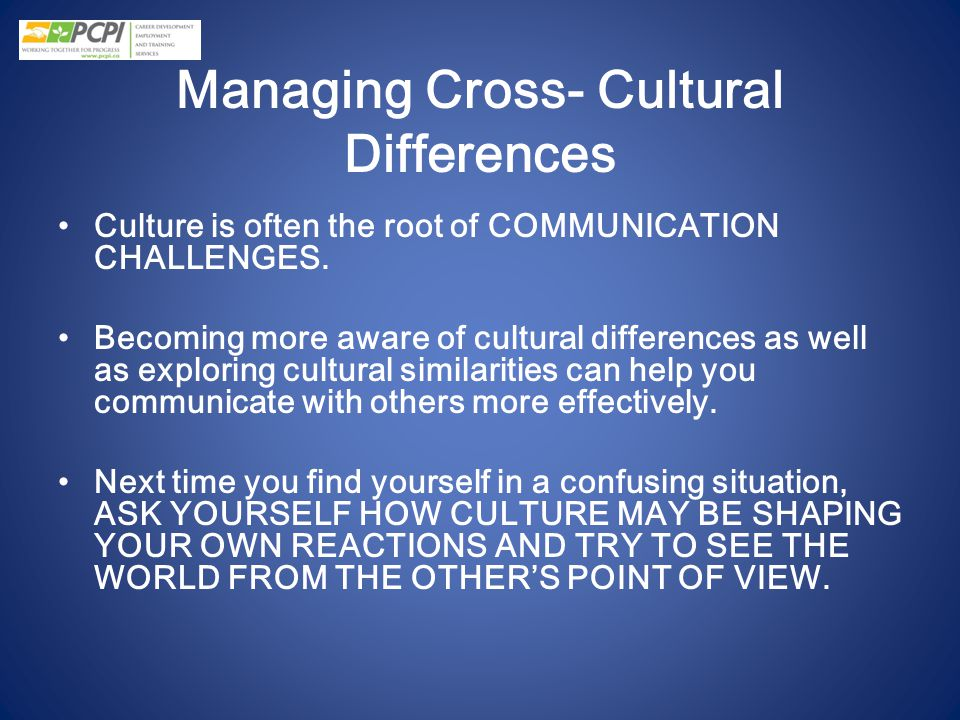 Managing Cross- Cultural Differences