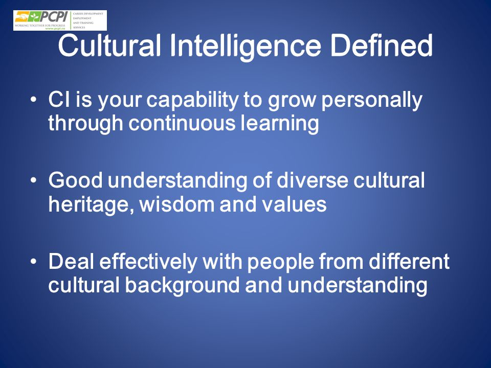 Cultural Intelligence Defined
