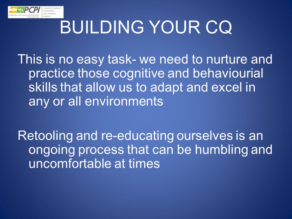 BUILDING YOUR CQ