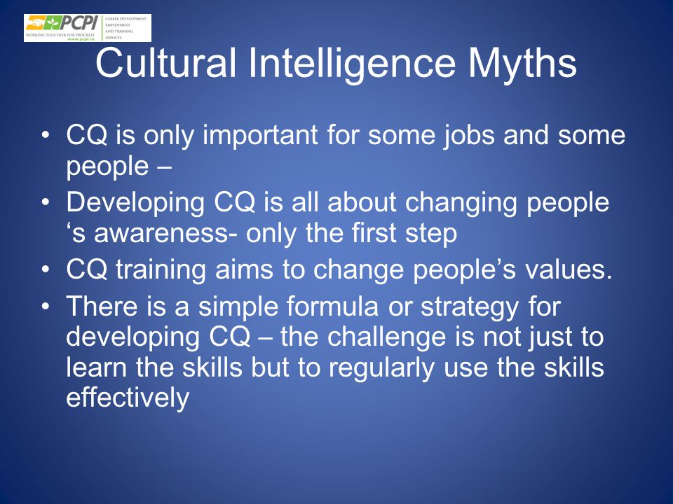 Cultural Intelligence Myths