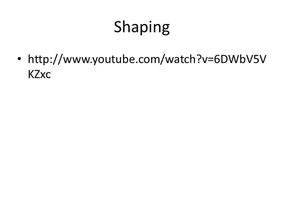 Shaping http://www.youtube.com/watch v=6DWbV5VKZxc