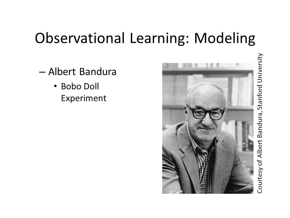 Observational Learning: Modeling