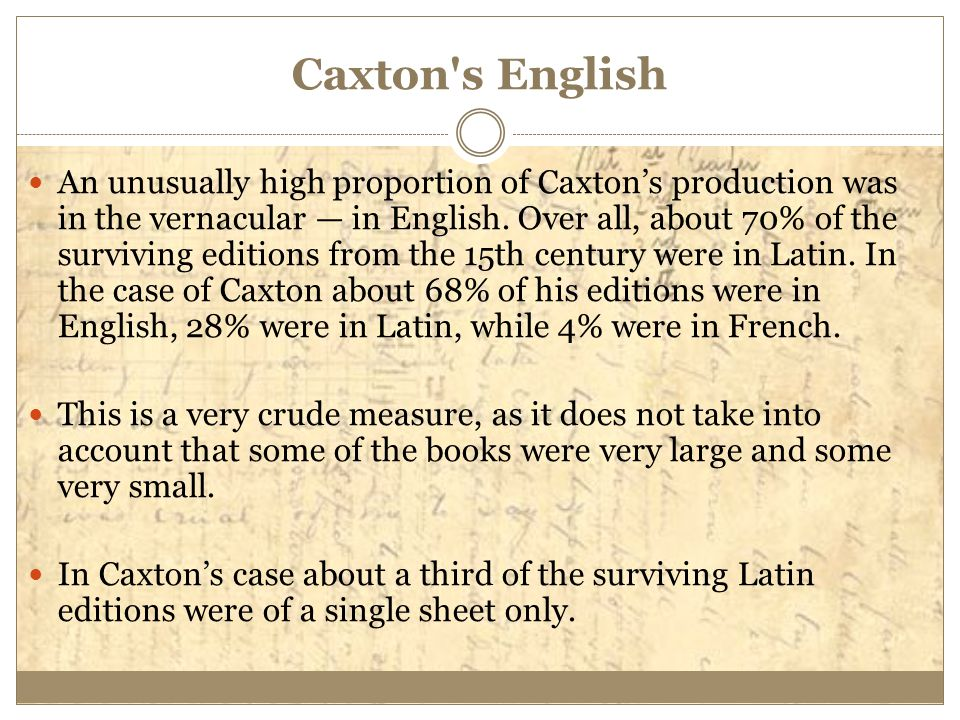 Caxton s English