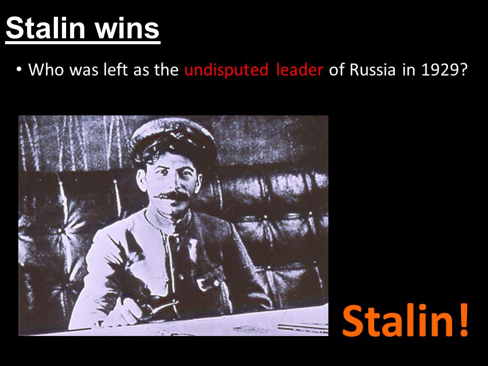 Who was left as the undisputed leader of Russia in 1929
