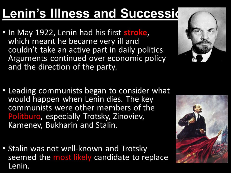 Lenin's Illness and Succession