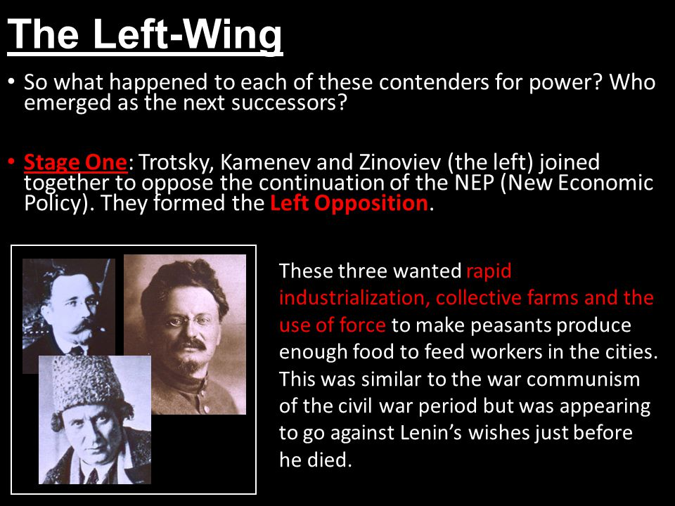 The Left-Wing So what happened to each of these contenders for power Who emerged as the next successors