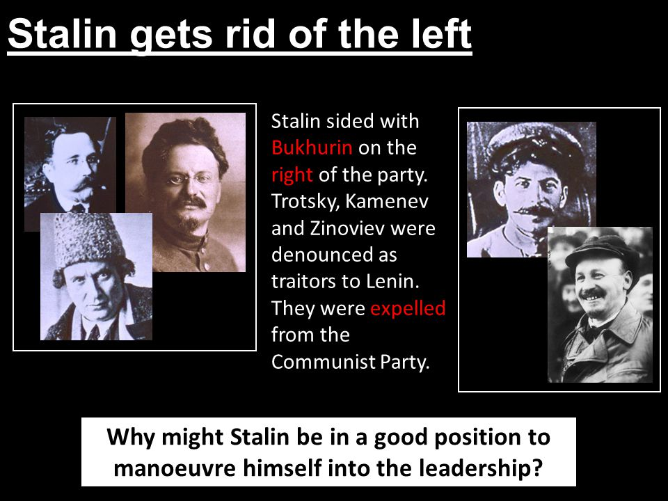 Stalin gets rid of the left