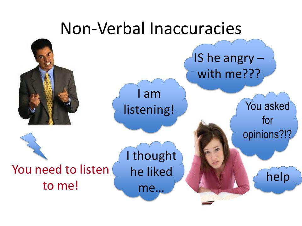 Non-Verbal Inaccuracies