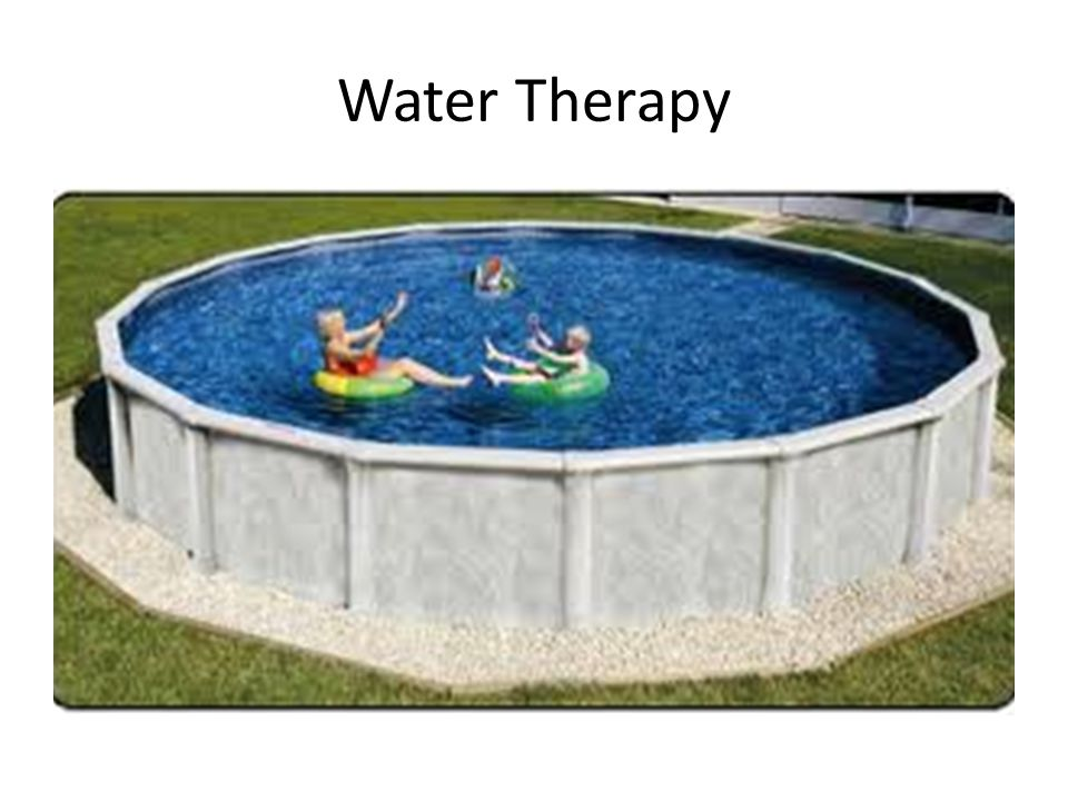 Water Therapy It's sensory, it's a serotonin booster, it brought me friends in hot Missouri summers.