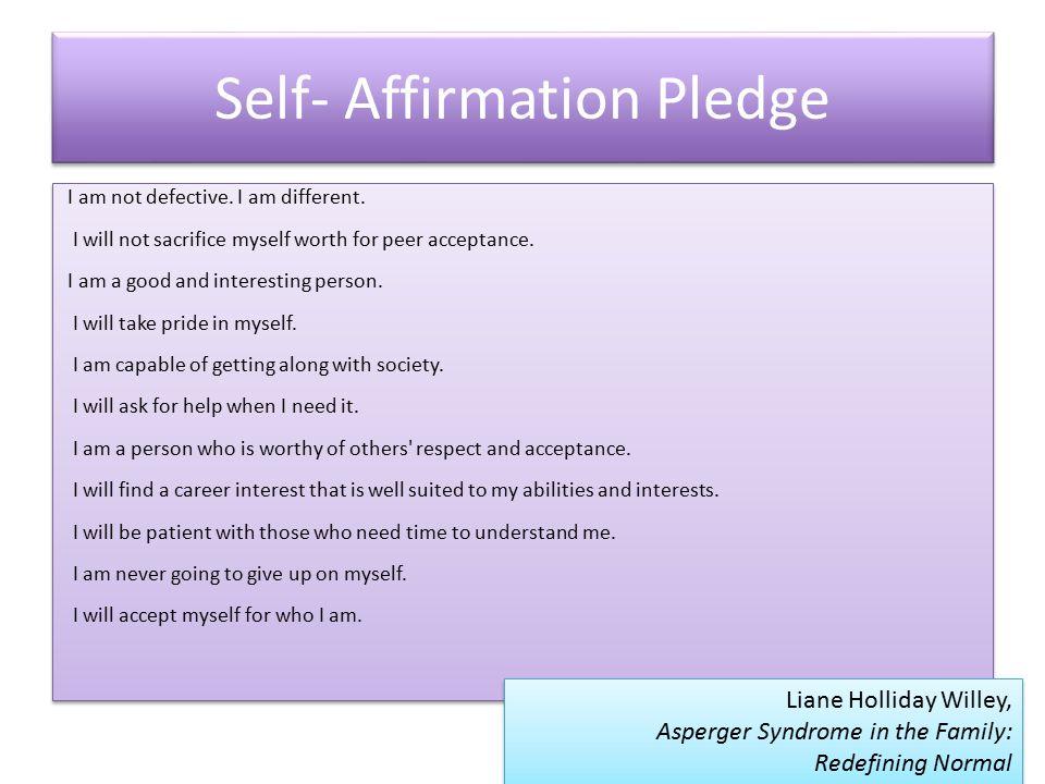 Self- Affirmation Pledge
