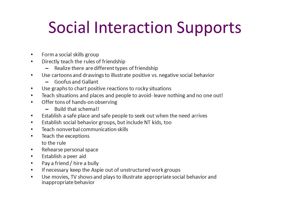 Social Interaction Supports