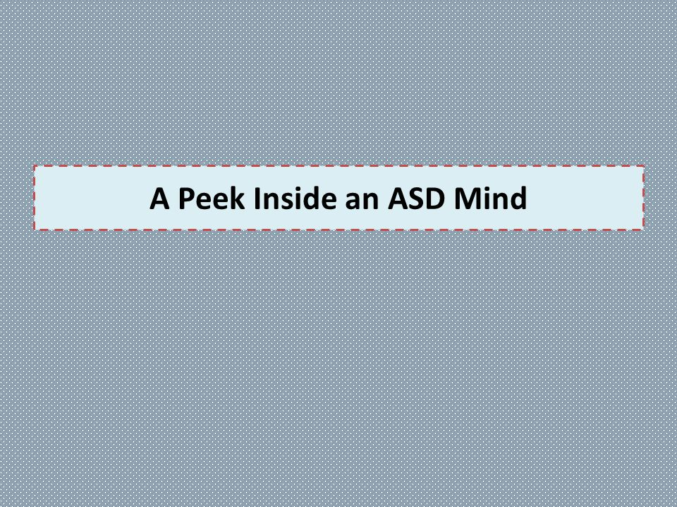 A Peek Inside an ASD Mind
